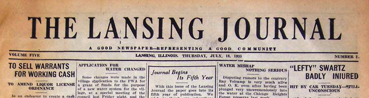 Lansing Journal Newspaper (historical issues)