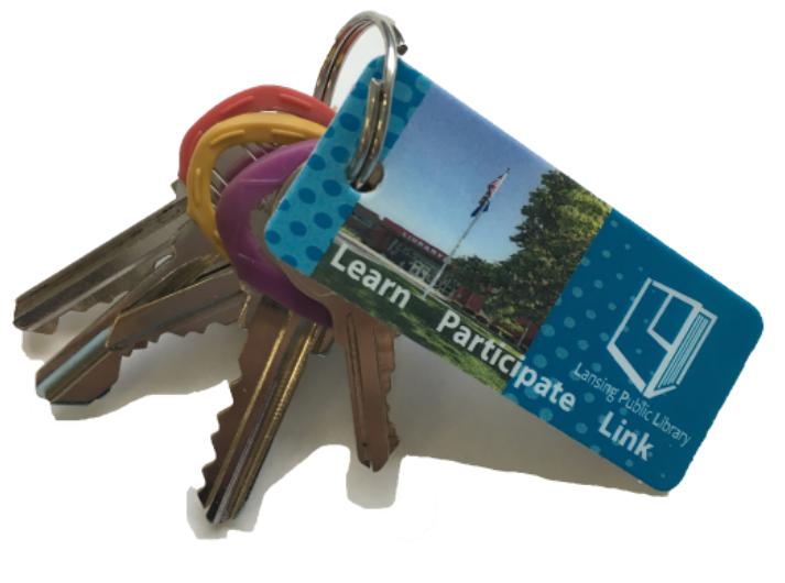 Keychain Library Card